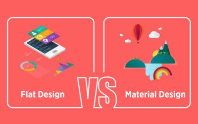 El flat design y el material design