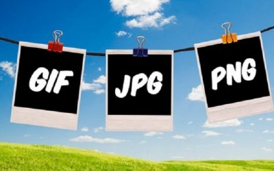 Los formatos GIF, JPG y PNG